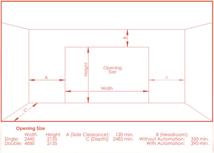 Width of standard garage door standard garage door sizes for How wide is a standard garage door