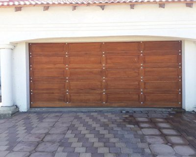 20 Panel Double Gothic with Silver Studs & Double Wooden Garage Doors Archives - Magnificent Doors