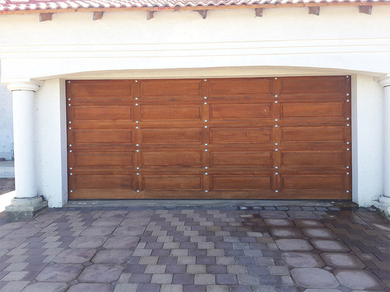 20 panel double gothic with silver studs magnificent doors - Double wooden garage doors ...