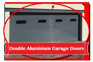 Double Aluminium Garage Doors