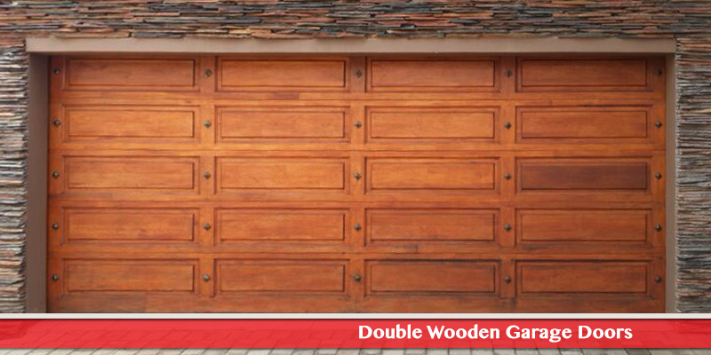 Double Wooden Garage Doors