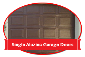 Single Aluzinc Garage Doors