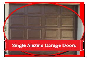 Single Aluzinc Garage Doors