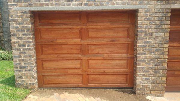 10 Panel Single Wooden Garage Doors