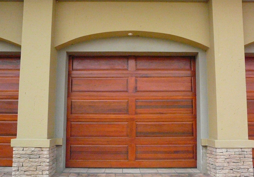 10 Panel Single Meranti Garage Doors