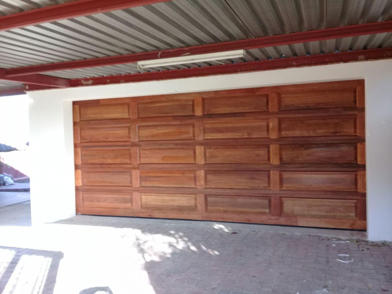 Double Wooden Garage Doors