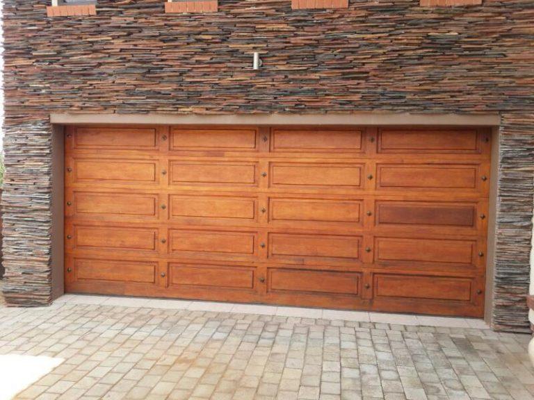 Double with bronze studs Wooden Garage Doors