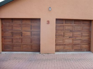 Single Wooden Garage Doors