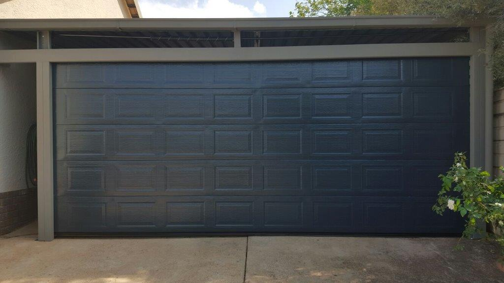Charcoal Steel Garage Doors