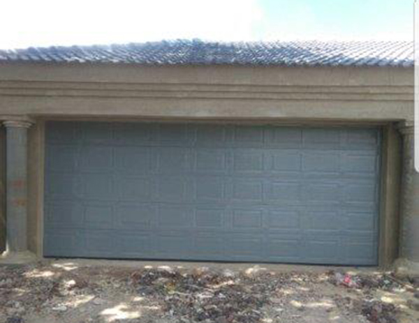 Light Grey Steel Garage Doors