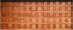 Double Panel Small Wooden Garage Doors