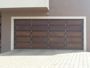 Dark Gothic Wooden Garage Doors