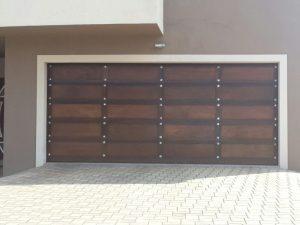 Dark Gothic Wooden Garage Doors