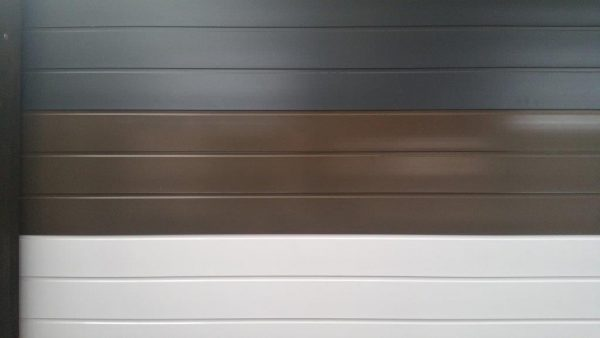 Door Colours - Charcoal, Bronze & White Aluminium Garage Doors