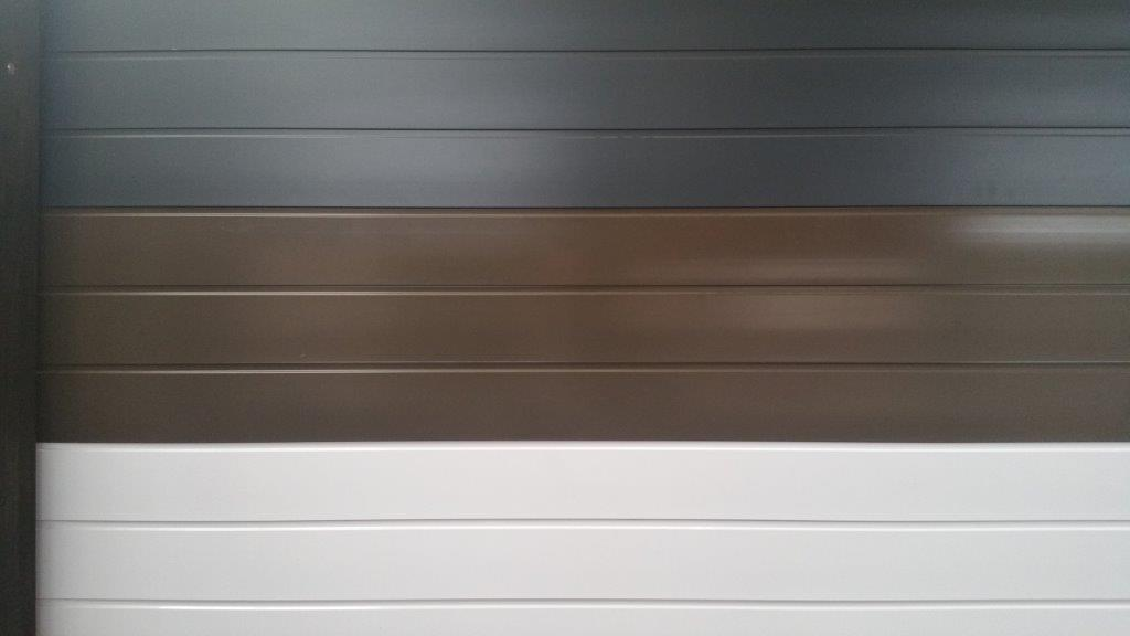 Door Colours - Charcoal, Bronze & White Aluminium Garage Doors