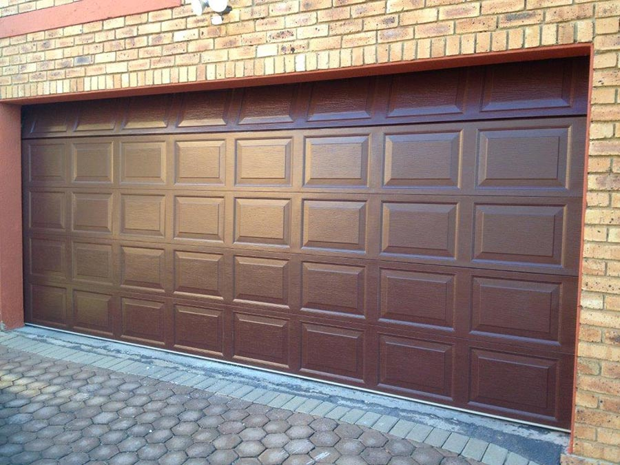Double 40 Panel Buffalo Brown Garage Door