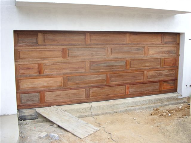 Double Brick Wooden Garage Doors