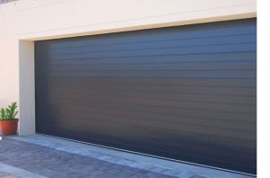 Double Charcoal Aluminium Garage Doors