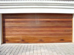 Double Horizontal Slatted Solid (Non-jointed) Wooden Garage Doors