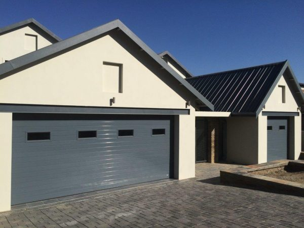 Double With Glass Inserts Aluminium Garage Doors