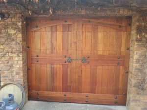 Single Barn Style Wooden Garage Door