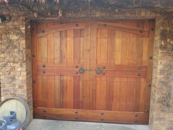 Single Barn Style Wooden Garage Door