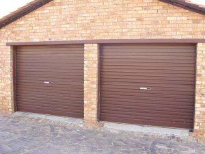 Single-Buffalo-Brown-Steel-Roll-a-Door Garage Doors