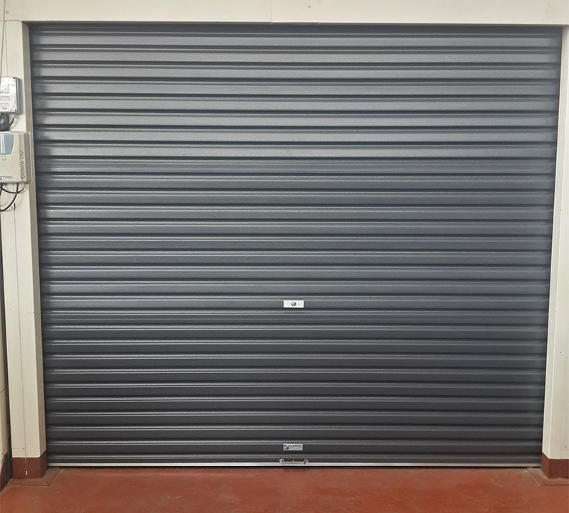 Single-Charcoal-Roll-A-Door Garage Doors