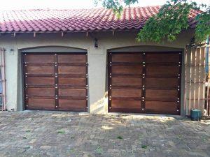 Single Gothic Wooden Garage Doors
