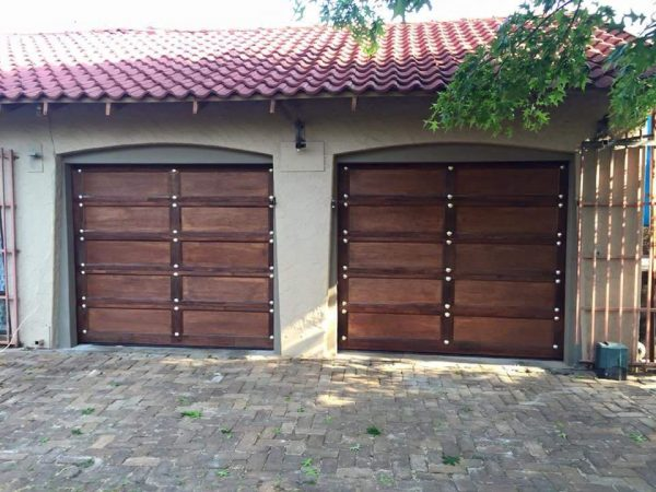 Single Gothic Wooden Garage Doors
