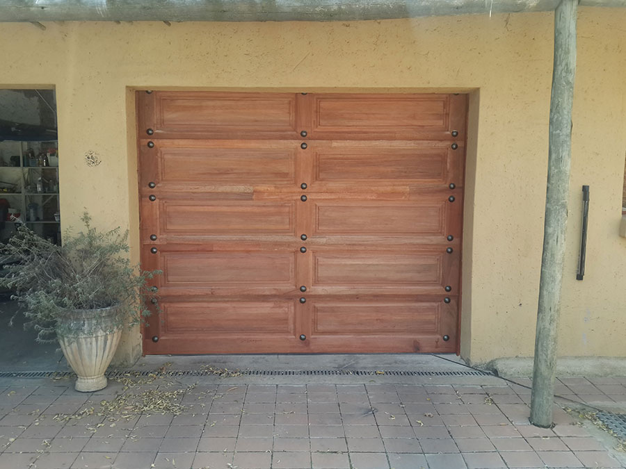 Single Rustic Wooden Garage Door