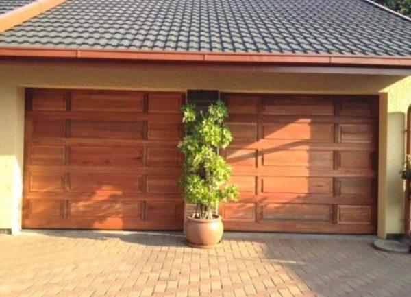 Single Tuscan Wooden Garage Door