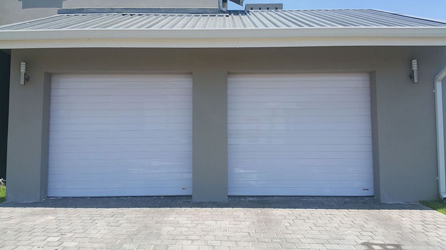 Single White Aluminium Garage Doors