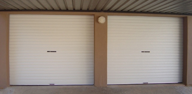 Single-White-Roll-A-Door Garage Doors