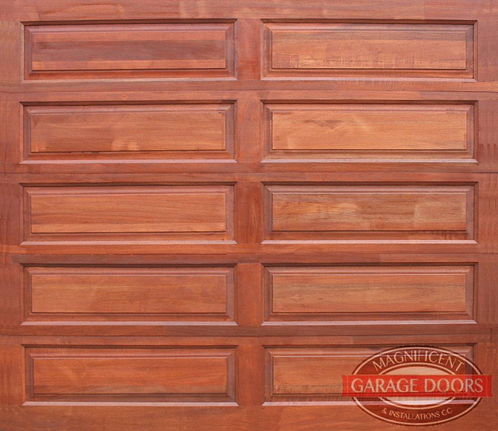 10 Panel Single Meranti Garage Door Magnificent Garage Doors