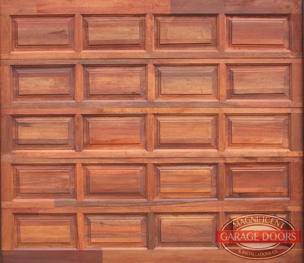 20 Panel Single Meranti Garage Door Magnificent Garage Doors
