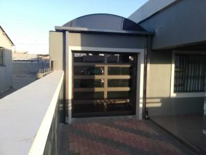 Single 10 Panel Framed Bronze Garage Door