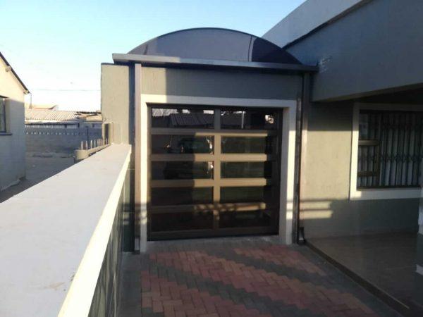 Single 10 Panel Framed Bronze Garage Door