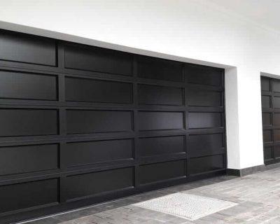 Double Aluminium Garage Door with full aluminium inserts