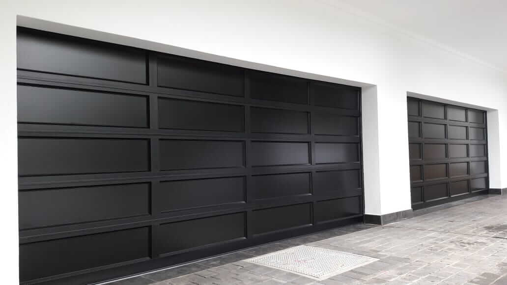 Double Aluminium Garage Door with full aluminium inserts